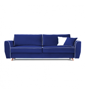 Sofa HUGO 3 osobowa rozkładana tk. MAGIC VELVET 2216