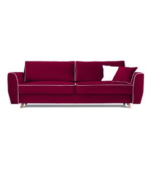 Sofa HUGO 3 osobowa rozkładana tk. MAGIC VELVET 2202