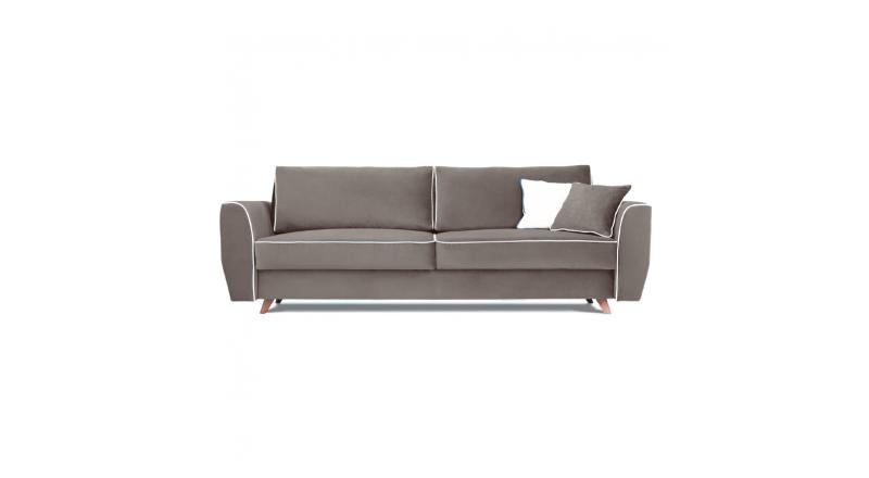 Sofa HUGO 3 osobowa rozkładana tk. MAGIC VELVET 2241