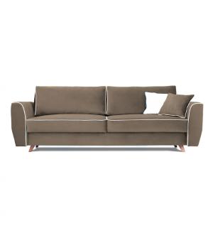 Sofa HUGO 3 osobowa rozkładana tk. MAGIC VELVET 2208