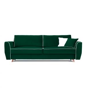 Sofa HUGO 3 osobowa rozkładana tk. MONOLITH 37