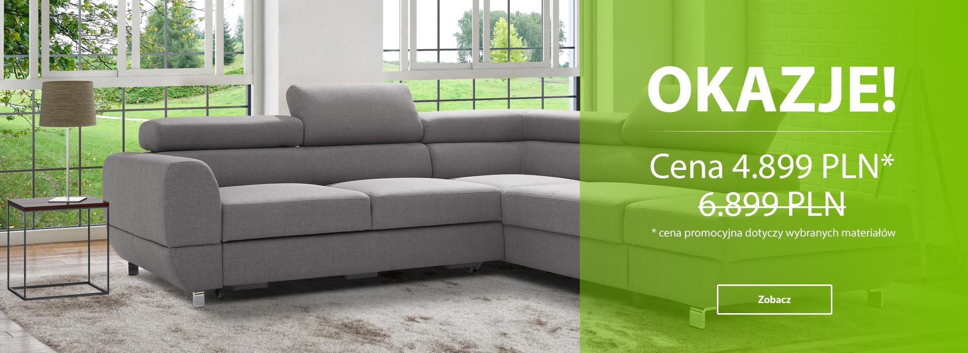 EMPORIO komfortowy narożnik marki CAYA DESIGN teraz taniej aż o 2000 pln. Oferta dotyczy wybranych materiałów plamoodpornych Magic Home. Sprawdź nas!
