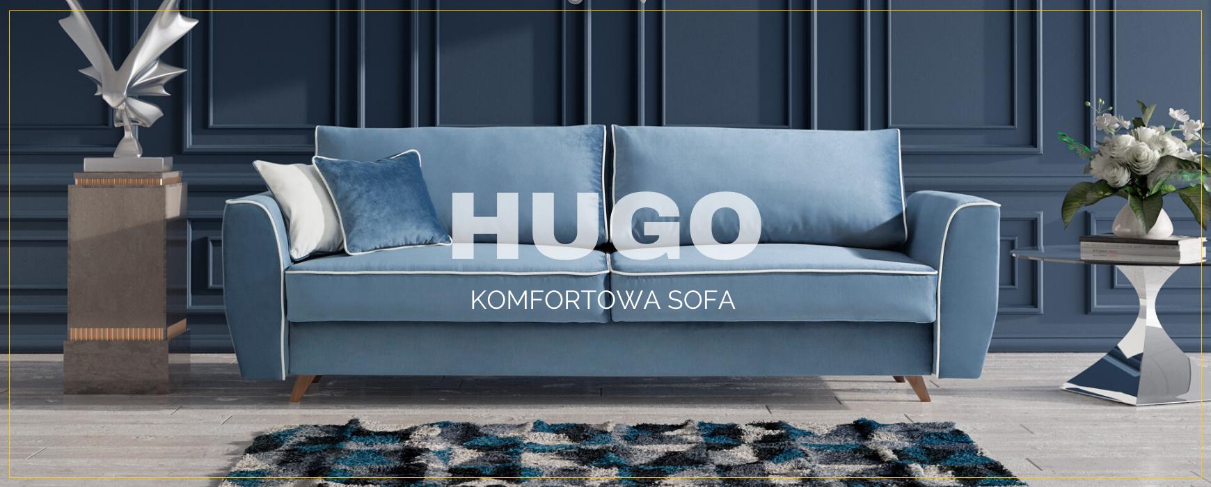 Komfortowa sofa HUGO z wygodną funkcją spania oraz pojemnikiem na pościel dostępna już od 3.199 pln Kilkanaście kolorów do wyboru. Transport gratis! Sprawdź naszą ofertę!