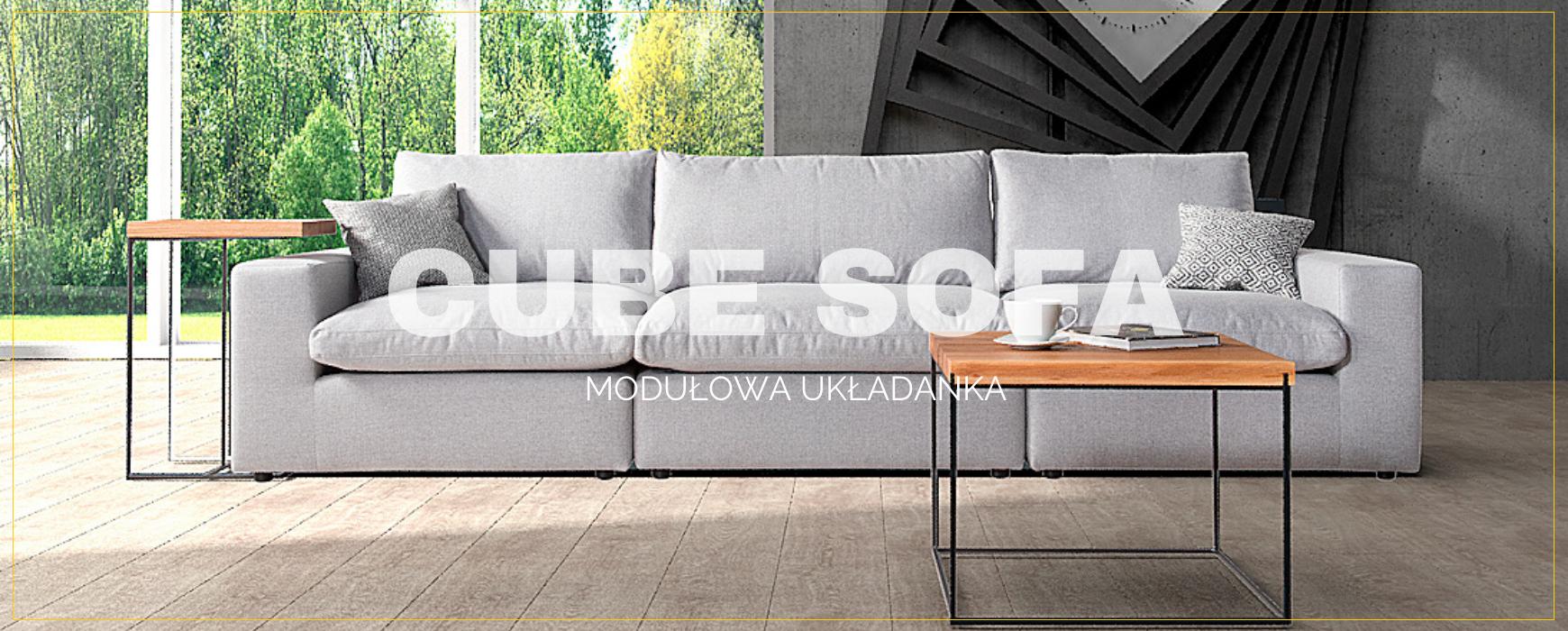 Modułowa i wybitnie komfortowa sofa CUBE dostępna w doskonałej cenie. Sprawdź naszą ofertę!