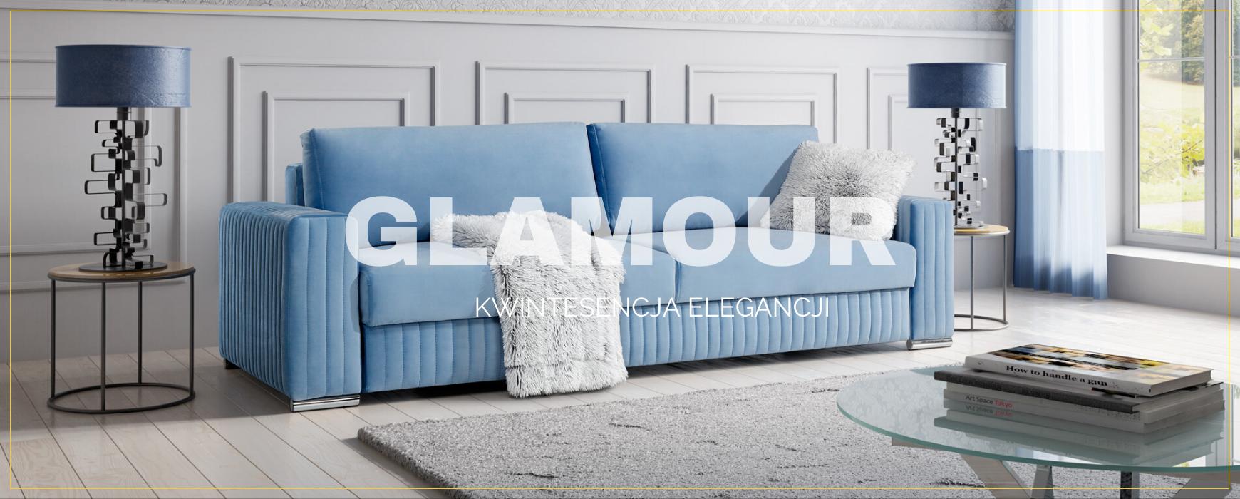Elegancka i funkcjonalna sofa GLAMOUR dostępna już od 3.999 pln Transport gratis. Usiądziesz z wrażenia! Sprawdź naszą ofertę!